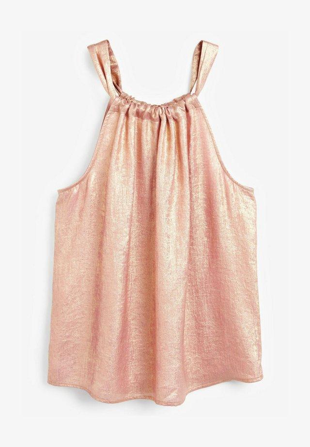 METALLIC - Blouse - rose gold-coloured