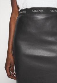 Calvin Klein - MIXED MEDIA PENCIL SKIRT - Pencil skirt - black - 3