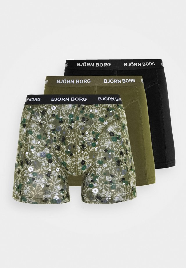 FLOWER SAMMY 3 PACK - Bokserit - olive night