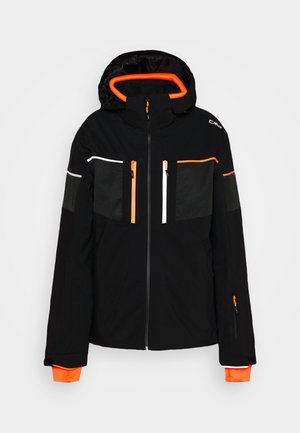 MAN JACKET ZIP HOOD - Skijacke - nero
