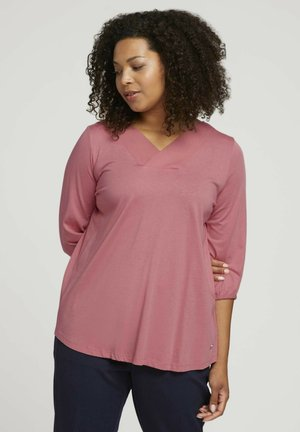 Long sleeved top - dusty rose pink