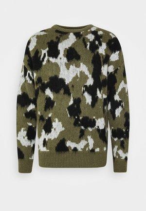 BRUSHED CREW NECK - Sweter - khaki