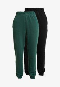 BASIC JOGGERS 2 PACK - Pantaloni sportivi - black/green