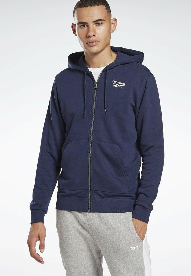 REEBOK IDENTITY ZIP-UP HOODED JACKET - Zip-up hoodie - blue
