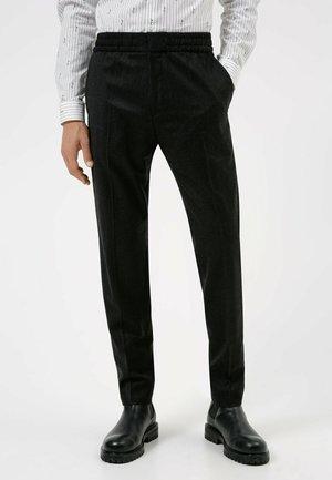 HOWARD - Trousers - black
