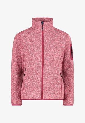WOMAN JACKET - Fleece jacket - rot mel
