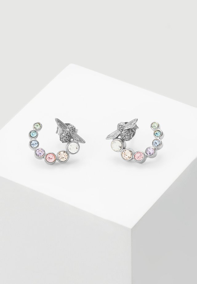 RAINBOW BEE - Earrings - silver-coloured