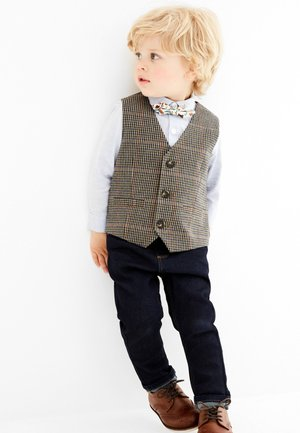 DOGTOOTH SET - Suit waistcoat - brown