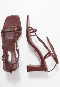Topshop - NICO HEEL - Sandalias de dedo - burgundy - 3