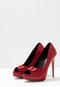 Faith - LOOK - Peeptoe heels - red - 4