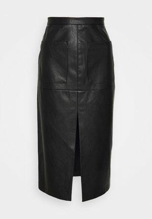 LOMBARD GONNA SIMILPELLE - Pencil skirt - black