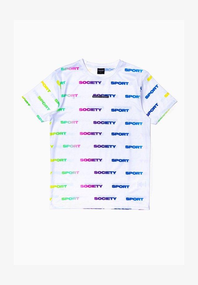 Print T-shirt - white/multi
