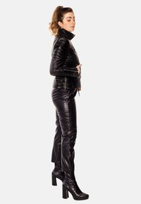 LEATHER HYPE - ALEX PERFECTO - Leather jacket - black with light silver accessories - 5