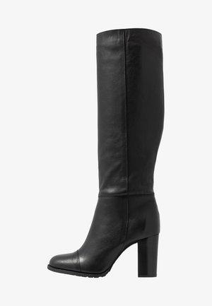 EMANUELA LONG - High heeled boots - black