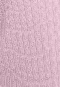 Hollister Co. - SLIM DOUBLE TIE - Chaqueta de punto - light pink - 6