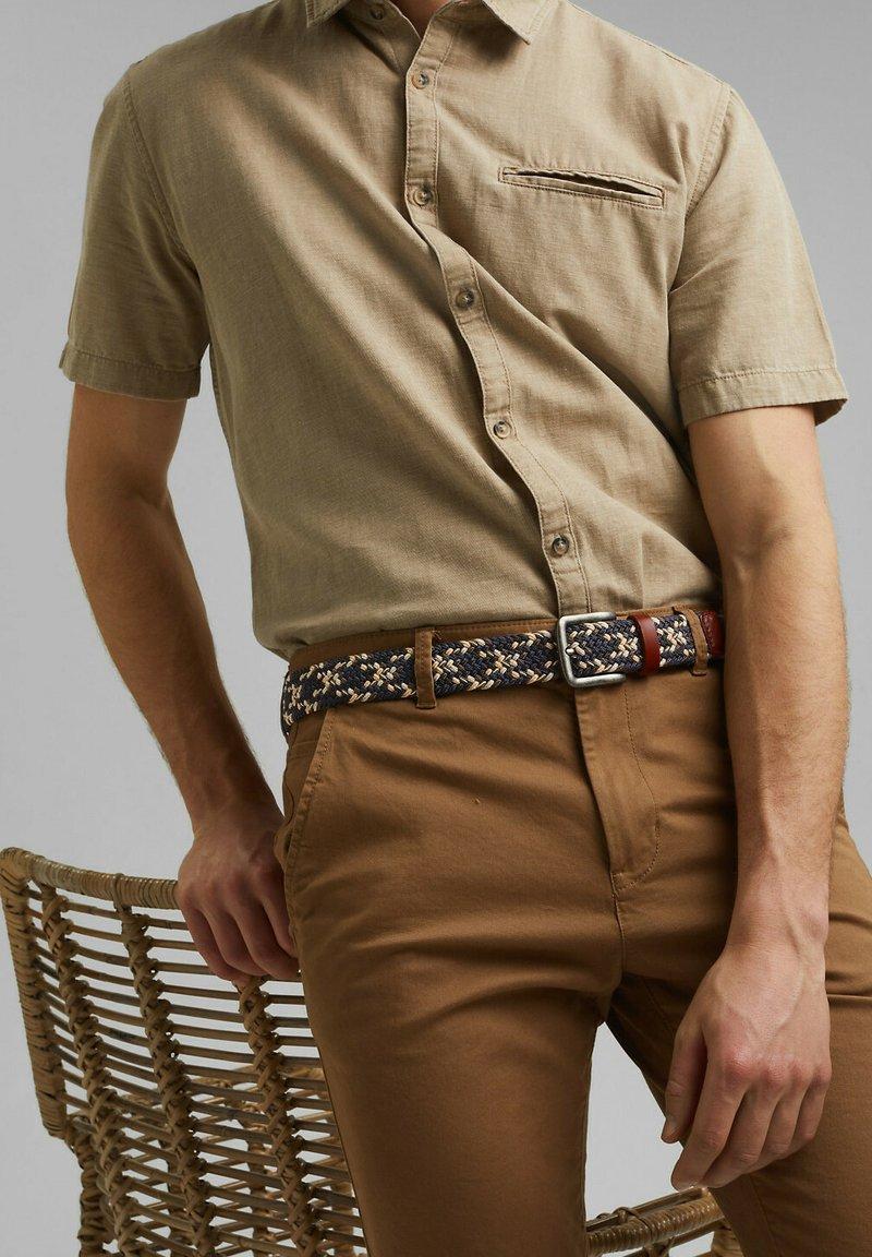 Esprit - Braided belt - navy