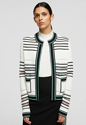 BOUCLE - Cardigan - white/black