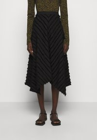 Proenza Schouler White Label - FRINGE FIL COUPE SKIRT - A-line skirt - black - 0