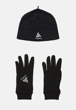 GLOVE HAT UNISEX SET - Fingerhandschuh - black