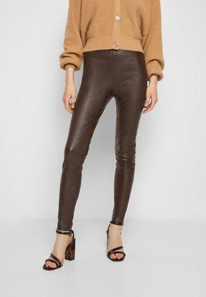 LENA - Leggings - Trousers - dark brown