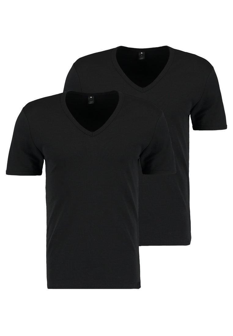 G-Star - BASE 2 PACK - T-shirt - bas - black