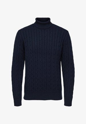 SLHRYAN STRUCTURE ROLL NECK - Jumper - sky captain