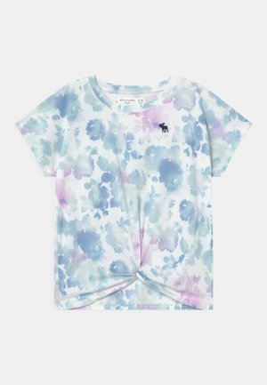 TWIST FRONT  - Print T-shirt - white