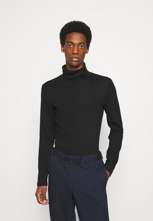 BASIC TURTLE NECK LONGSLEEVE - Long sleeved top - black