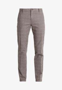 Tommy Hilfiger Tailored - SLIM FIT WINDOWPANE FLEX PANT - Pantaloni - brown - 4