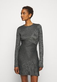 rag & bone - THE TONAL BLOCKED DRESS - Shift dress - black - 0