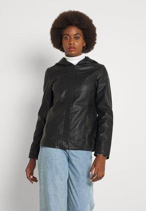 ONLSEDONA SHORT - Faux leather jacket - black