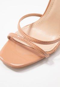 Glamorous Wide Fit - Sandály na vysokém podpatku - nude - 2