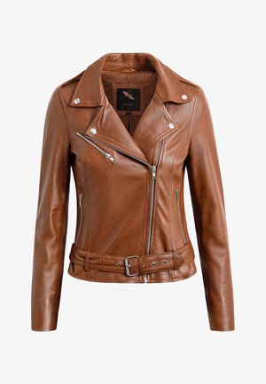 EMMA - Leather jacket - cognac