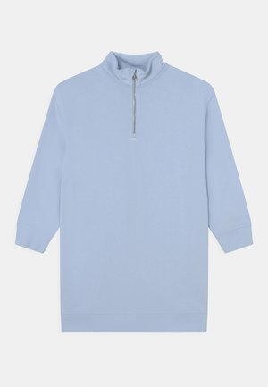 LONG SLEEVES - Day dress - light solid blue