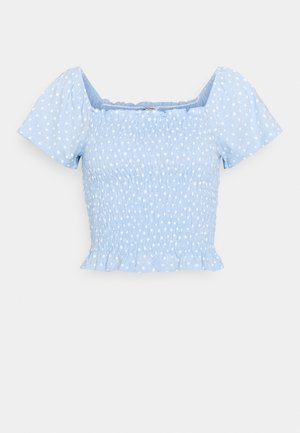 RIVA  - T-shirt med print - blue irrydot