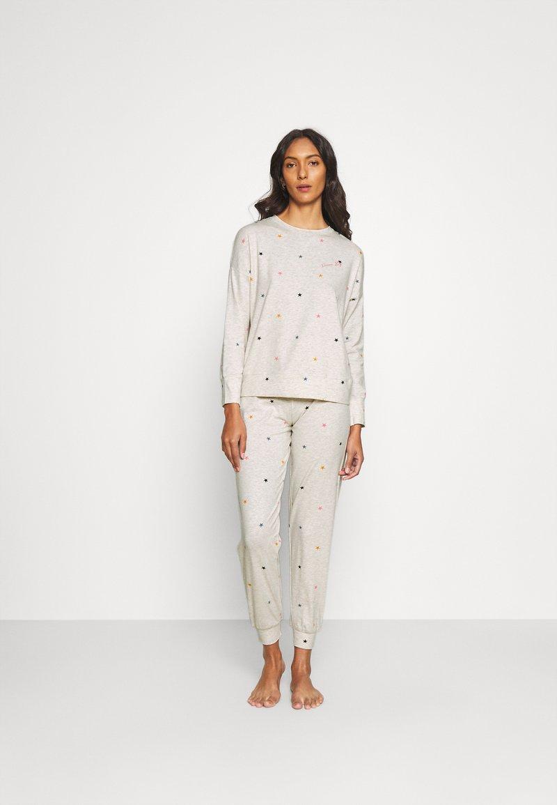 Marks & Spencer London - STAR & HEART SET - Pyjamas - oatmeal