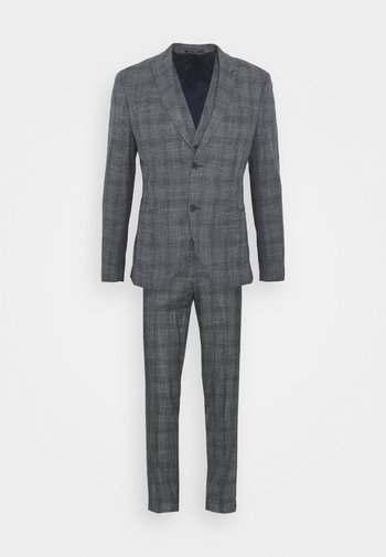 BLUE CHECK 3PCS SUIT SUIT