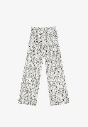 PALAZZO - Trousers - white