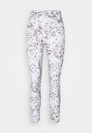 SHEEN FOIL 7/8 - Leggings - white