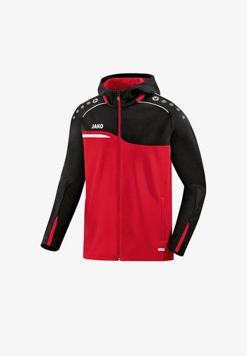 Zip-up sweatshirt - rotschwarz