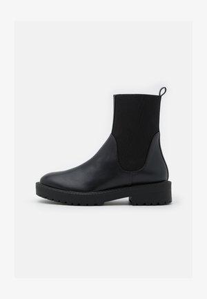 ELASTIC SHAFT CHELSEA BOOTS - Platform ankle boots - black