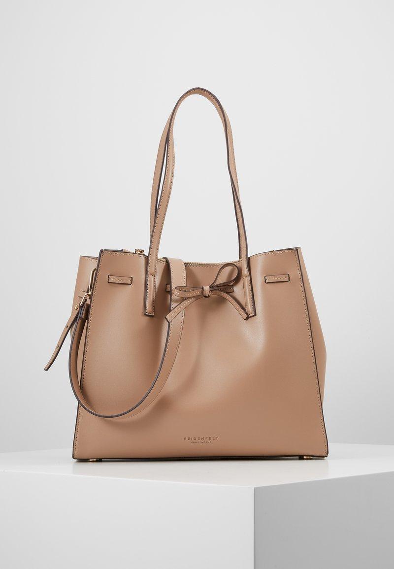 Seidenfelt - TONDER - Shopping bag - almond