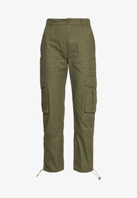 Missguided - DRAWCORD CUFF TROUSER - Trousers - khaki - 4