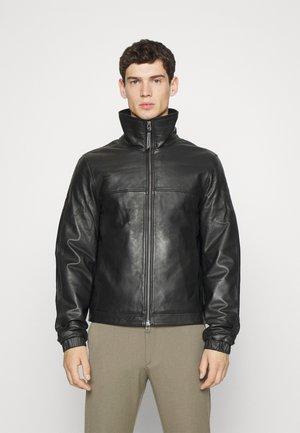 HENSSON - Leather jacket - black