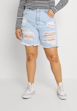 PLUS EXTREME - Shorts di jeans - blue
