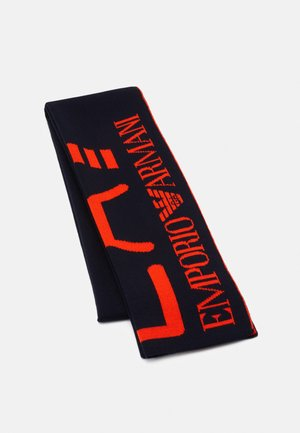Scarf - blue navy/red