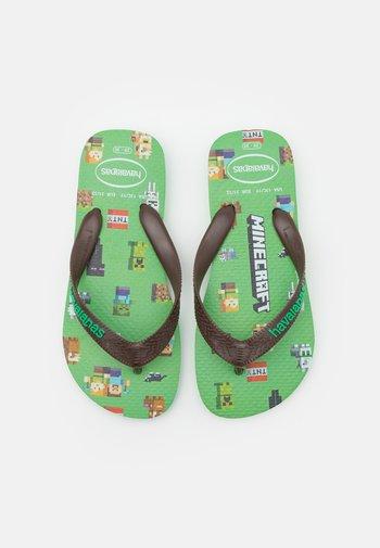 MINECRAFT - T-bar sandals - leaf green