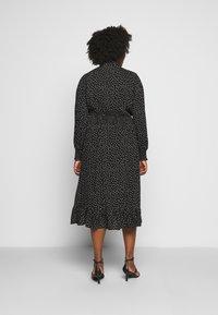 ONLY Carmakoma - CARLOLA CALF DRESS - Day dress - black/white - 2