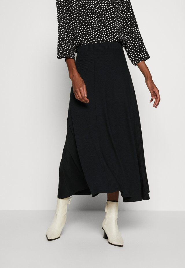 BIAS CUT SKIRT - A-linjainen hame - black