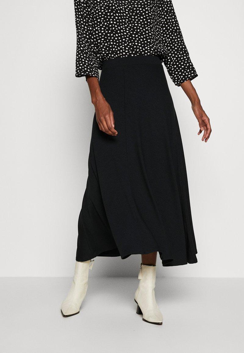 Zign Tall - BIAS CUT SKIRT - A-lijn rok - black